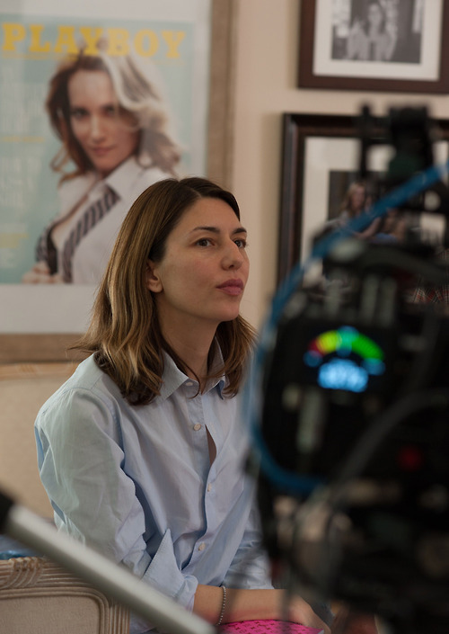 "Sofia Coppola on the set of ""The Bling Ring"""