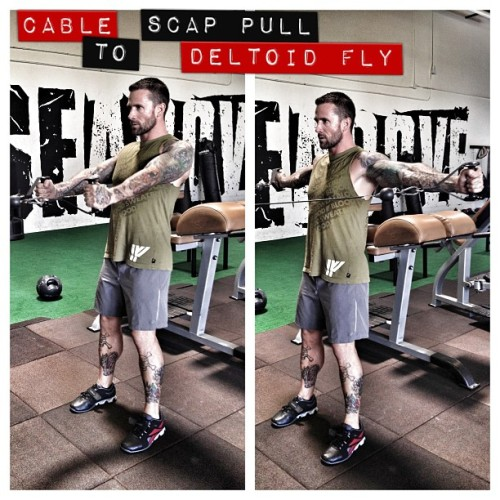 A good exercise for post shoulder conditioning and helping posture and another way to blast your traps and delts. #raf #rafbeliever #riseabovefitness #power #stength #core #conditioning #muscle #me #gym #fitblr #fitness #fitstagram #instagood #inspiration #dedication #training @irnfstathletic