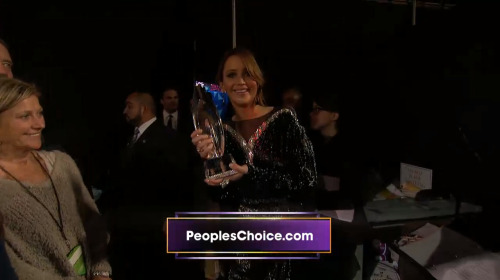 Jennifer and her People's Choice Award for Best Actress