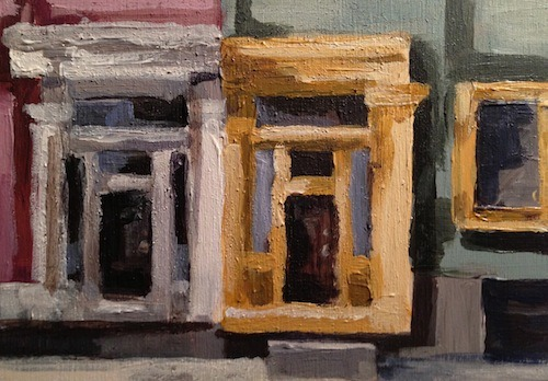 migrantartist:  Last painting for the day. A couple house fronts on Morris St. Halifax.