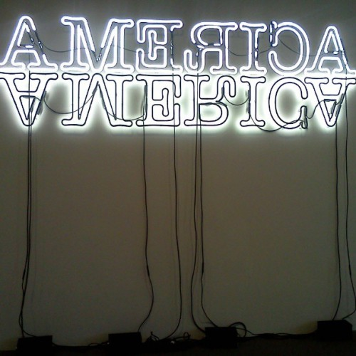 #america light installation  (at National Gallery of Art - East Building)
