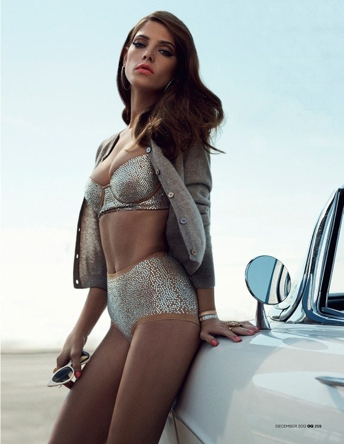 daneikamarch:  bejeweled lingerie on Ashley Greene