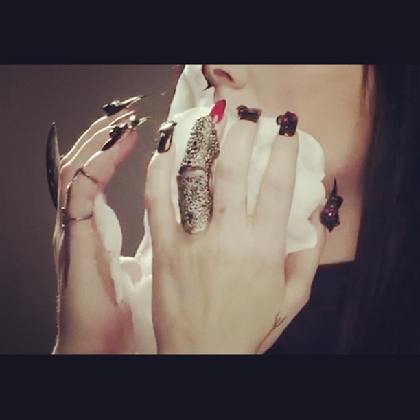 NAILS DID for @cchelseawwolfe for her newest music video for Converse! Directed by @charlene_bagcal, make up by @jennakristina! #nailswag #nails #nailart #nailartclub #swag #LA