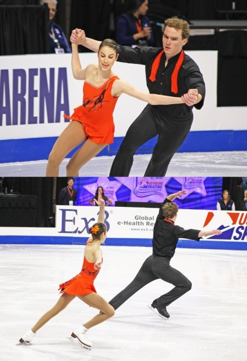 Morgan Sowa and David Leenen skating their short program at the 2010 Novice US Nationals.
