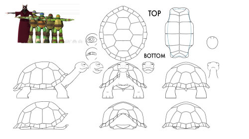 tmntmaster:  Our other favorite turtle… SPIKE!  www.turtlesvsfoot.com  I think Spike was either the first or second character I did for TMNT. July 2011…