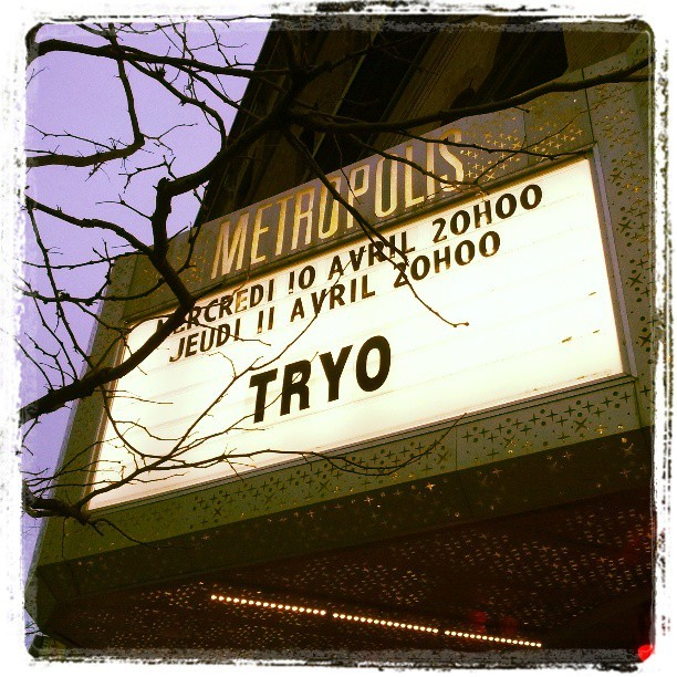 #Tryo @ #mtl #metropolis NOW yay! :-D