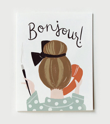 (via Rifle Paper Co. - Bonjour Card)