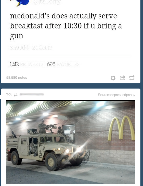 LOL funny food hilarious wow breakfast military guns