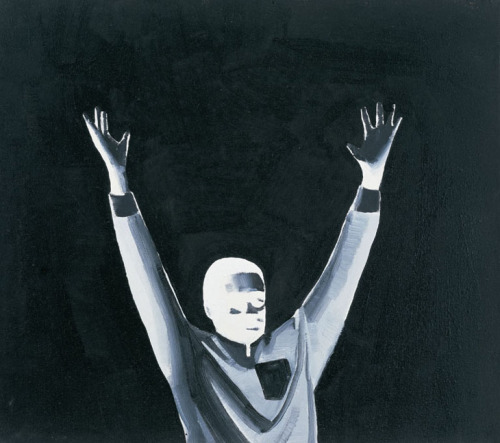 contemporary-art-blog:  Wilhelm Sasnal artist from Poland, Arms raised, 2001Contemporary-Art-Blog