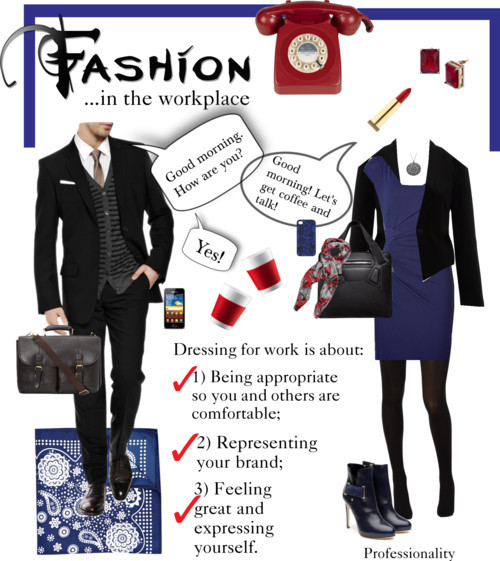 Thanks Professionality for sharing these sound tips for fashion in the workplace.  While seemingly obvious to some people, they are often less obvious to others. The key here is to use good judgement. What you choose to wear in the workplace says a lot about you. Make sure your choices reflect the professional message you want to send.   professionality:     3 tips for fashion in the workplace  If you express yourself by the way you dress: I support you. But keep in mind where you are, where you want to go, and what your personal brand is. It's so important to communicate who we are but we need to still consider other people's comfort and taste levels. If you have a pierced lip…great! But maybe take it out when you interview or visit grandma. Like to show off your curves including your cleavage? Go for it - unless you are at work (and by work I mean almost EVERY workplace).   As always, we all make our own choices (hooray for that), but do consider the following: Be appropriate so you and others are comfortable; Represent your brand; Feel feel great and represent yourself.  Three tips for fashion in the workplace by professionality featuring platform heels