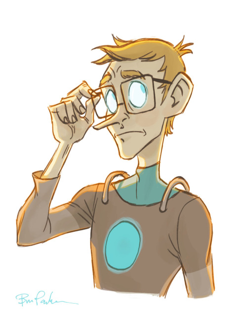 I  . . drew  … more human  … Wheatleys. Yep, I really enjoy drawing him. Such an awesome character.