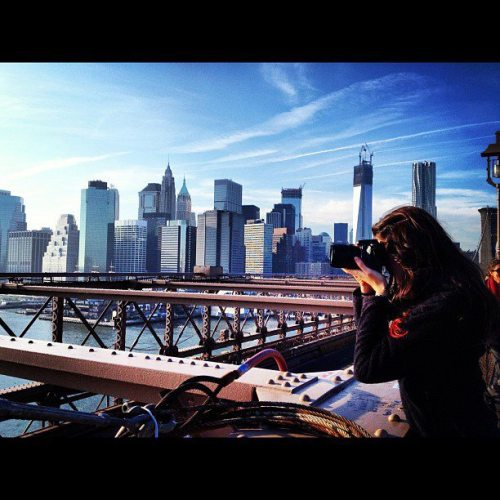 Me in New York City photographing the skyline