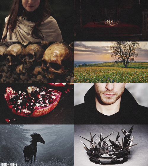 theunseeliequeen:  Mythological OTPs → Hades and Persephone   …a chasm opened in the earth and out of it coal-black horses sprang, drawing a chariot and driven by one who had a look of dark splendor, majestic and beautiful and terrible. He caught her to him and held her close. The next moment she was being borne away from the radiance of earth in springtime to the world of the dead by the king who rules it.
