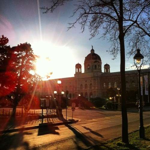why no, i do not get tired of this motive #vienna #city #street #view #sun #sky #spring #sameold #hello #moment #architecture #colors