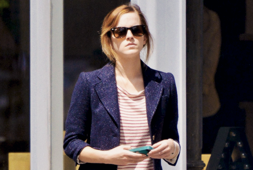 Emma Watson out and about in NYC (May 7, 2013)