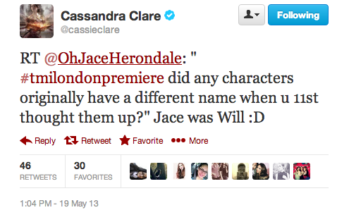 rosefase:  The day we learned Jace was originally Will.