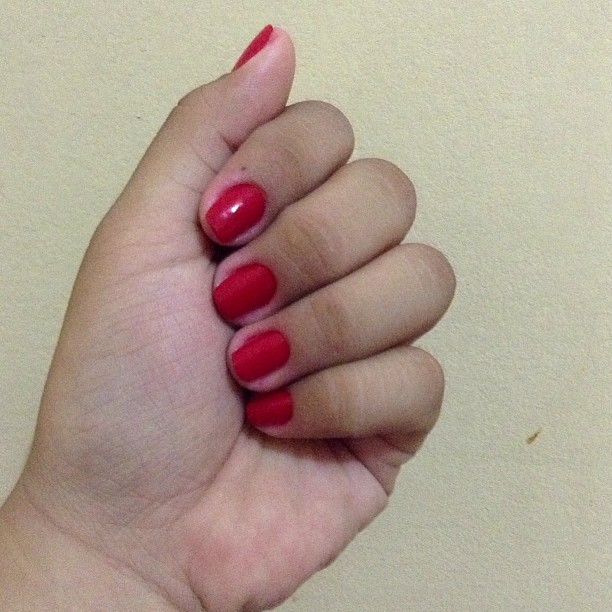 red-hot nails and I love it!!! :D
