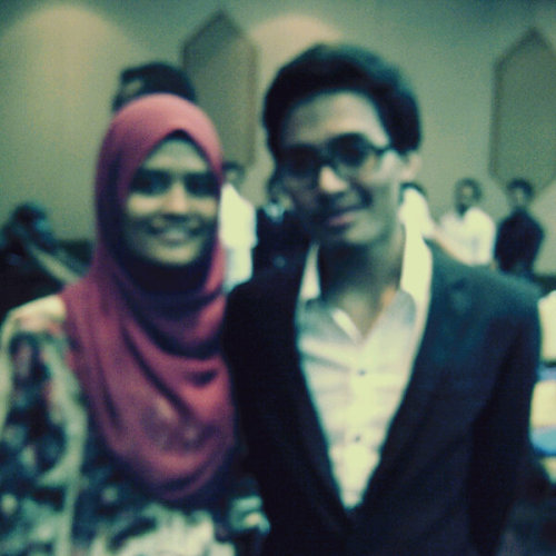 farid and I. #possadinner2013 (Photo taken and uploaded via MOLOME )