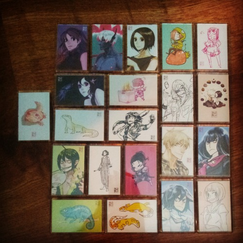 I made some new magnets, currently only one of each. I'll be at J-con Saturday 20th Sept this weekend. :)