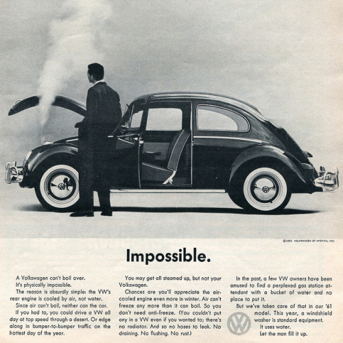 1961 Volkswagen Advertisement Car and Driver August 1961 by SenseiAlan on Flickr.Volkswagen Advertisement Car and Driver August 1961