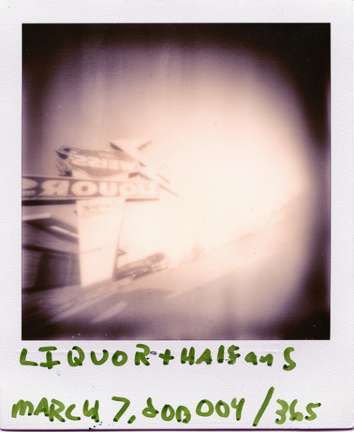 Pinhole: March 7, 2013 (004/365) on Flickr.Weiss Liquors, East Nashville, Tennessee Ammo Can, ~f/175, tilted film plane, PX 600 Silver Shade UV+, about 2 seconds
