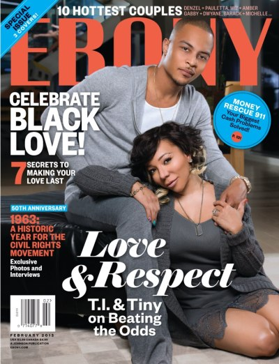 T.I.  + Tameka 'Tiny' Harris for Ebony [Feb 2013]