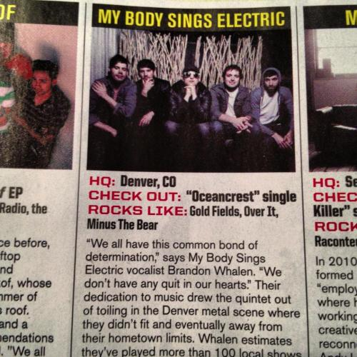 So we're in this month's issue of Alternative Press. Something we've wanted since we started playing music all those years ago :)