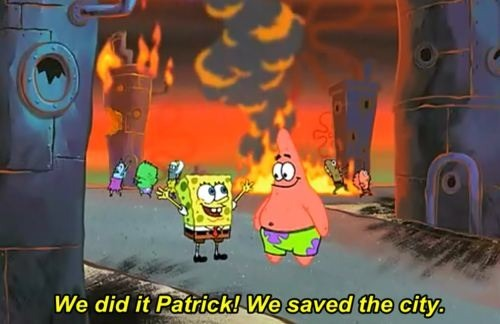 h-ella:  personofcolour:  US foreign policy summed up by Spongebob  AD