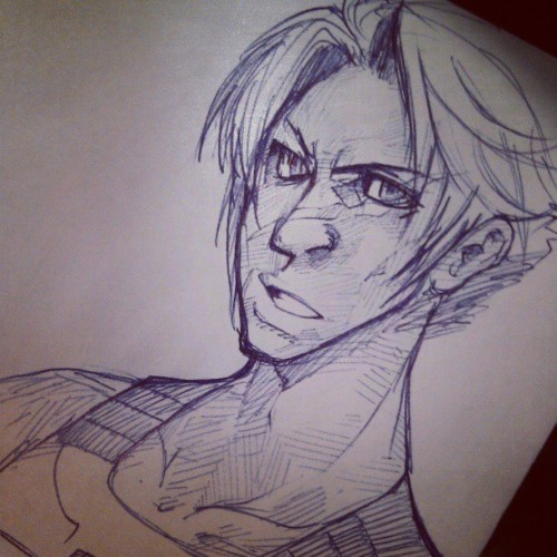 Sketch: Trying to remember how to draw with my hands. Heh. ballpoint pen on normal printer paper. I sort of love drawing with ballpoint sometimes!