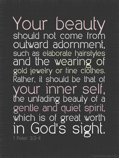 spiritualinspiration:  11 Words of Wisdom for Women of GodBy Joyce Meyer 1. Always keep God first, and seek Him for who He is, not what He can do for you.2. Take time regularly to examine your own heart and ensure that your motives are pure. Everything is determined by your motives.3. Show respect for all people and make everyone feel valuable. Every human being is created in the image of God.4. Be a very generous giver. Giving is the key to living.5. Enjoy where you are on the way to where you are going. Be goal oriented, but do not miss the moment you are in.6. Always remember where you came from. This will help you to stay humble.7. Be Thankful in all things, even if not for all things.8. The things you say are important. Do not underestimate the power of little throw away comments that can crush and hurt people.9. Seek peace. You must pursue having peace on purpose. It is one of the most necessary things for enduring ministry .10. Love God. When you truly love God, you will have a good relationship with yourself and then you will treat other people right. 11. What God says is important, not what man says. Do not be a people pleaser, but be a God pleaser. www.facebook.com/naeemcallaway