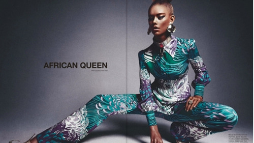 "Model Behaviors: 16-Year-Old White Girl Poses in 'African Queen' Editorial (via @Jezebel)  Here we go again. Here's 16-year-old white model Ondria Hardin; she's doused in a very deep bronze in an editorial for Numéro magazine called ""African Queen""."