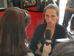 Roberta Vinci at the Rome Masters draw ceremony. More pics and video here: http://tennis-buzz.com/rome-masters-2013-draw-ceremony/
