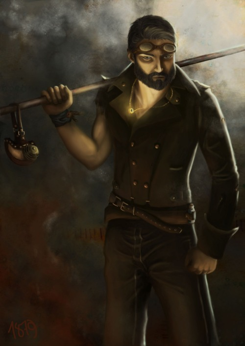 msbarrows:  a1879:  I spent too much time on steampunk Karl, and it was a great learning experience. Now time to sign, let go, and be better on the next painting!  Ooo, Mr. Thekla! Ooo! *Presses back of wrist to forehead and swoons dramatically* …and apart from that my overall reaction is ASDFGHJKLHJVBDAJKGY!