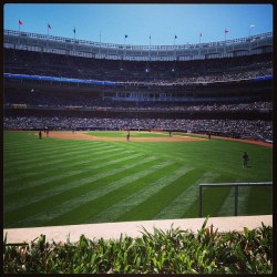 Yankee's baseball on a Sunday!   #yankees #baseball #fun #food #hotdogs #family #sports #newyork #bronx