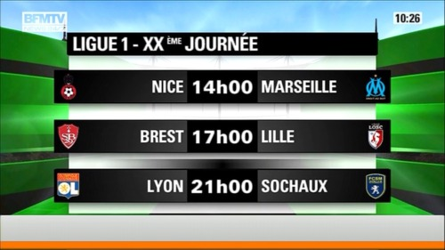 31/03/2013 - Exciting Ligue 1…  BTW:  - XX = 20 - XXX  = 30 ——> [ XXXème Journée ]