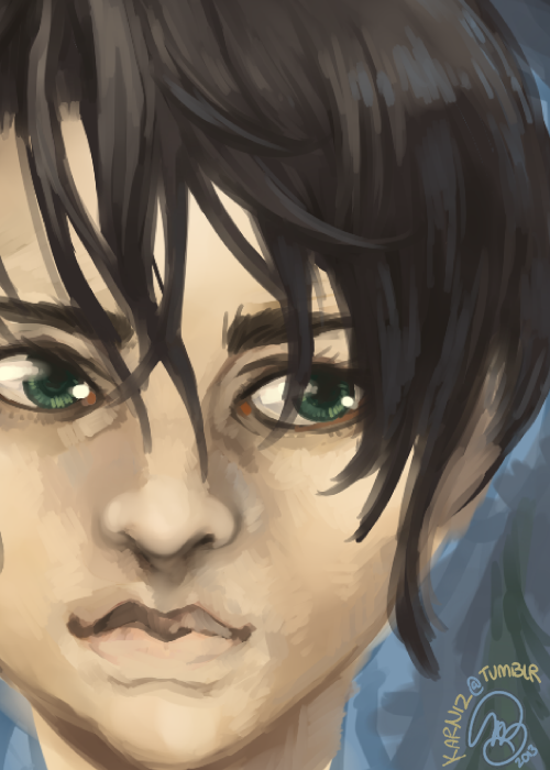 A Song of Ice and Fire: working on a digital painting of Arya Stark, I quite enjoy drawing Arya. ♥ [a work in progress…]