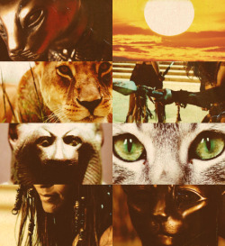 girlsarewolves:  Egyptian Mythology Picspam -  Bast, the feline goddess of protection against evil spirits, the defender of the pharaoh, a lioness and cat-headed goddess, associated with Ra and the sun, until the Greeks equated her with Artemis, and she became a moon goddess.