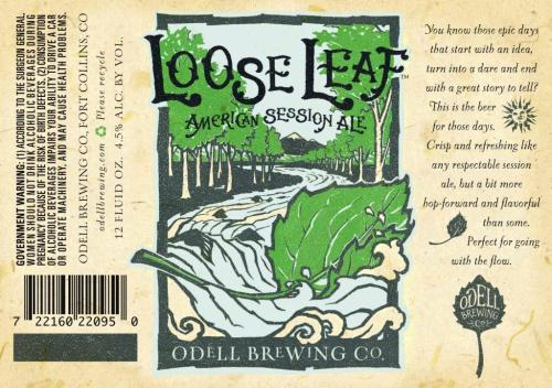 Odell Brewing Company will release its Loose Leaf American Session Ale exclusively in Colorado starting May 13. Distribution to other markets will start later this summer, beginning in June. Read the full press release.
