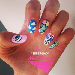 We went cray-cray today! #nailart #nailsisters #nailartmelbourne #nailartinmelbourne #melbournenailart #sugarskulls #superradnailsisters #radnailsisters  (at The Super Rad Nail Sisters HQ)