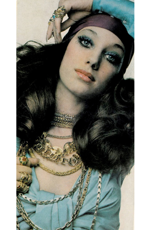 theswinginsixties:  Marisa Berenson photographed by Paolo Barbieri, 1969.