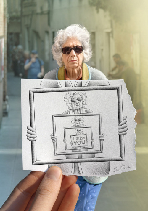"divagancia:  ben Heine y su técnica ""Pencil Vs Camera"""