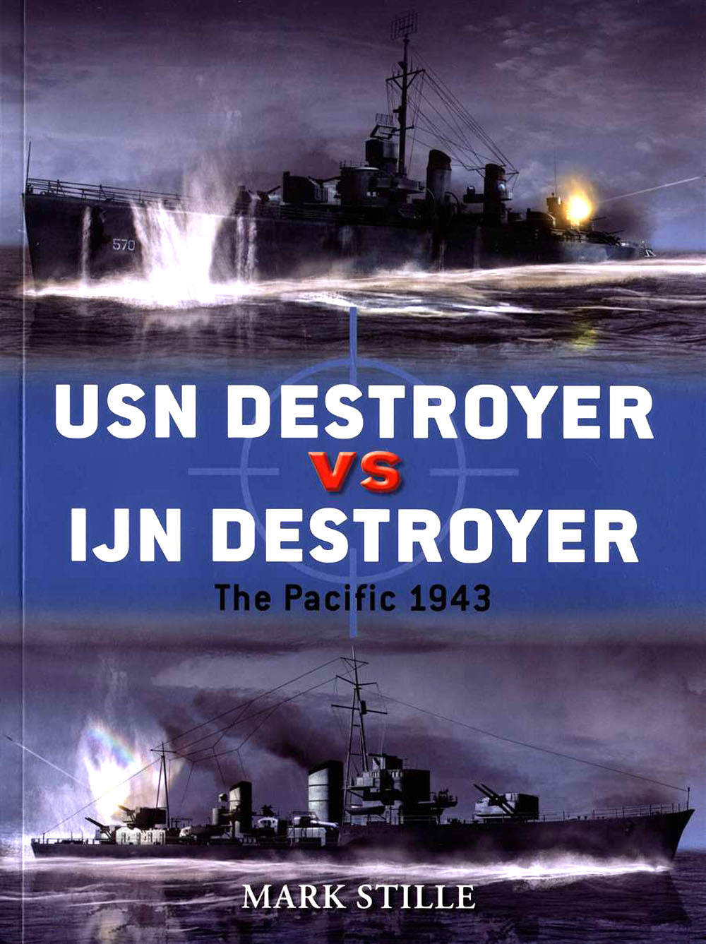 "BOOK REVIEW – USN Destroyer VS IJN Destroyer: The Pacific 1943 By Mark E. Stille, with contributors, Osprey Publishing, Long Island City, NY (2012) Reviewed by Michael F. Solecki The naval frigates known as ""destroyers"" first came into their own in the Pacific Theater of World War II. These ships evolved out of the 1890s from the need to counter smaller torpedo boats used to attack capital ships in fleet-formation; getting their name from the shortening of the original moniker of ""Torpedo Boat Destroyer."" They are known as the ""greyhounds of the sea"" for their sleek hulls, tasking flexibility, speed, maneuverability and stamina; oh, and of course their ""haze grey"" color. (read the full review)"