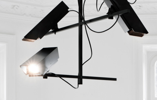 likeafieldmouse:  Humans Since 1982 - Surveillance Chandelier (2011)