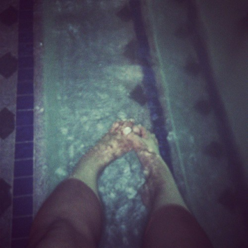 Came out to the pool to think. #feet #pool #thinking #beingaloneisntsobad