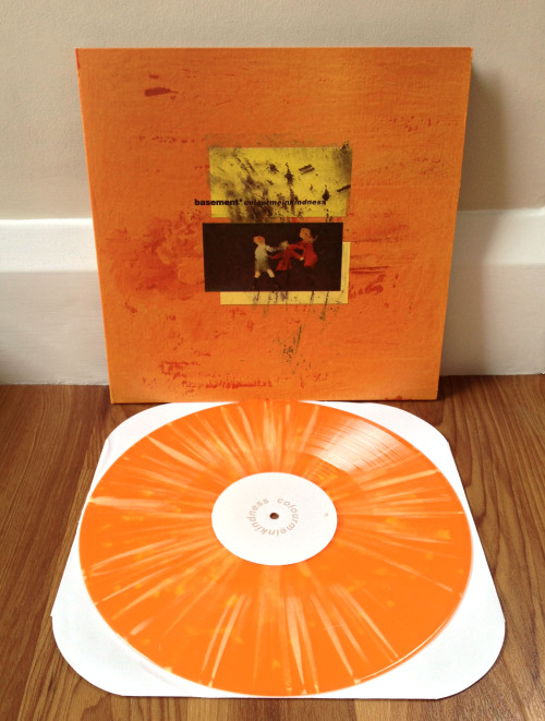 lukebeazley:  Basement - Colourmeinkindness  2nd press - orange with yellow splatter /700