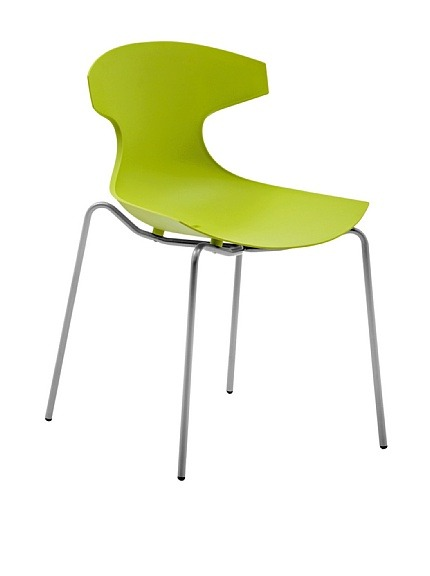 "Domitalia Echo Chair, Green  Echo is Domitalia's best-selling design, suitable for indoor and outdoor use, stackable Material type: Steel, Polypropylene Country of origin: Italy Authentic product  Item Dimensions: height 32.5"", width 21.5"", depth 21.75"" Price: $139"