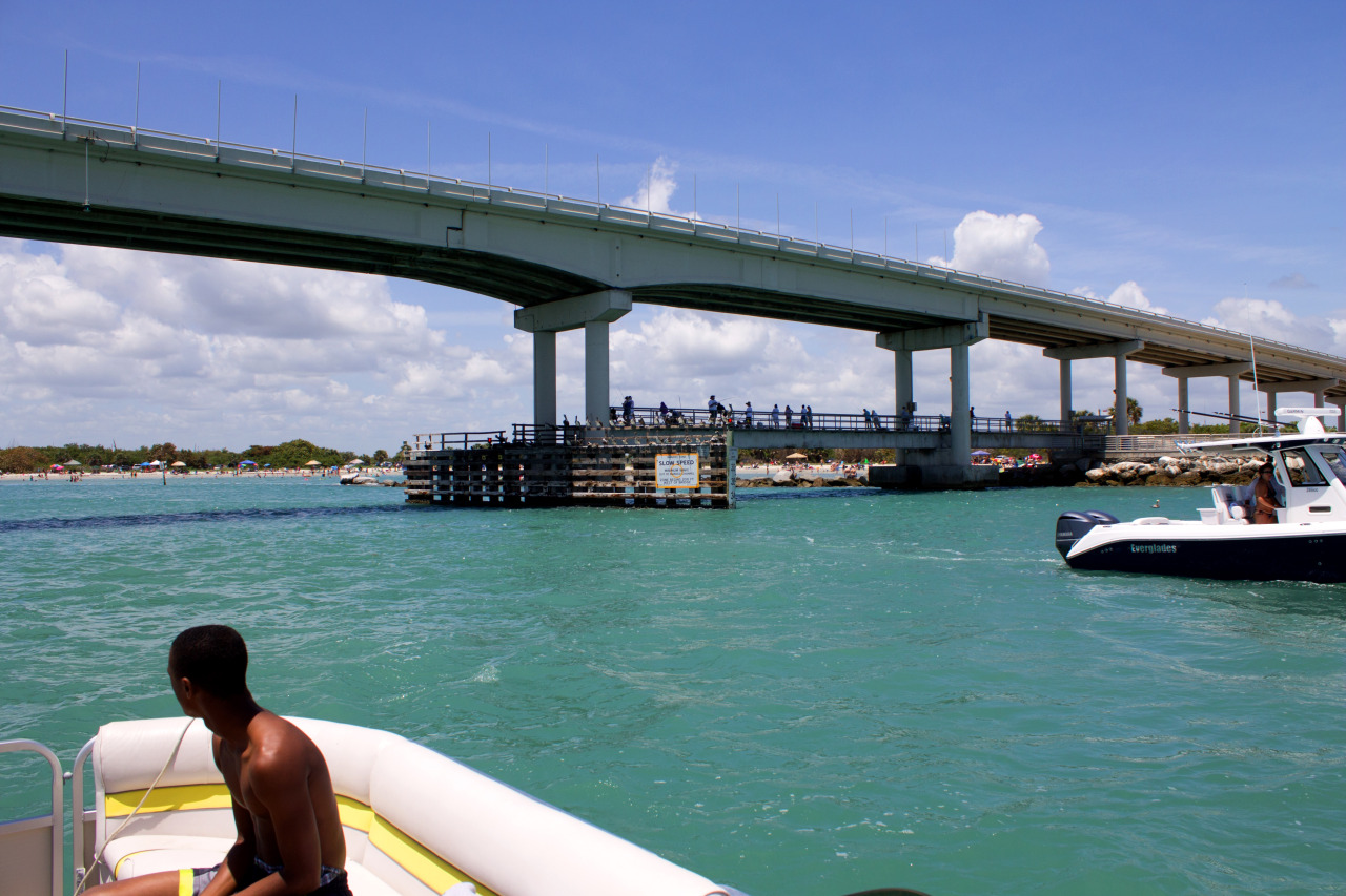 Going through the inlet with a pontoon boat