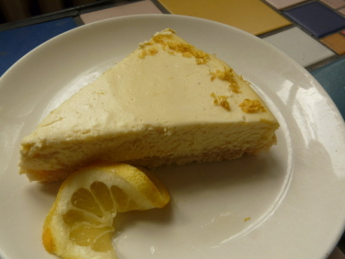 Recipe: Lemon Cheesecake Even if you don't have much of a sweet tooth, this creamy cheesecake with a crunchy crust will satisfy.