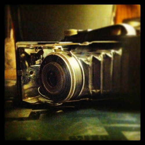 "My ""new"" camera #vintage #vintagecamera #camera #oldschool #collection #happybirthdaytome #love #badass"