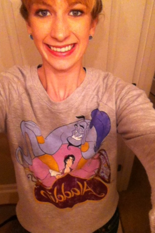 I got an Aladdin sweatshirt for my birthday! It been a great 22nd birthday!